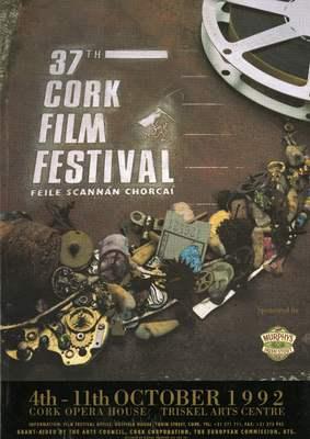 Cork International Film Festival programme cover from 1992