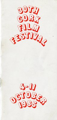 Cork International Film Festival programme cover from 1985