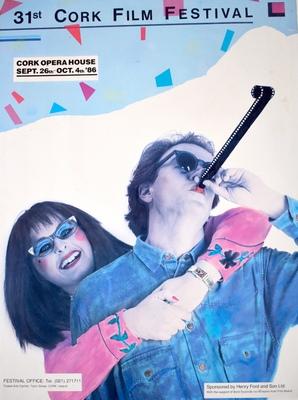 Cork International Film Festival poster from 1986