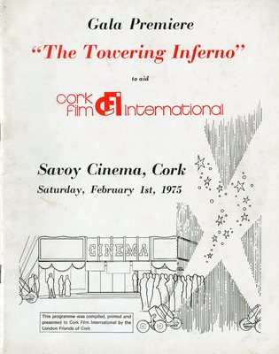 Gala Premiere The Towering Inferno programme from 1975