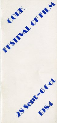 Cork Festival of Film programme cover from 1984