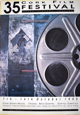 Cork International Film Festival poster from 1990