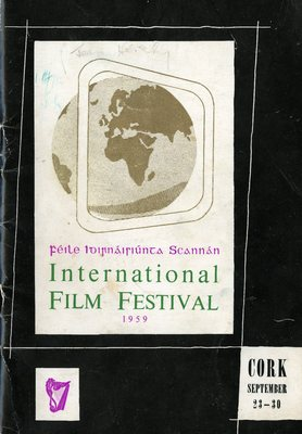 Cork International Film Festival programme cover from 1959