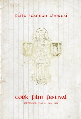Cork International Film Festival programme cover from 1958