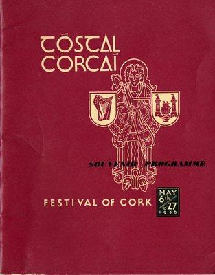Tóstal Festival of Cork souvenir programme cover from 1956